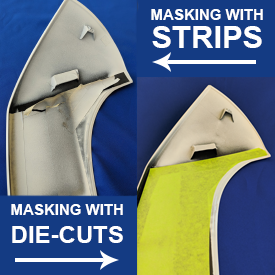 Masking with vs without die cuts