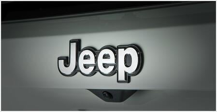 Jeep emblem bonded to vehicle with our emblem attachment solutions